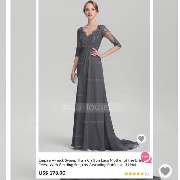 c2dedcd2 JJsHouse Dresses   Alineprincess Vneck Chiffon Lace Wbeading Dress ...